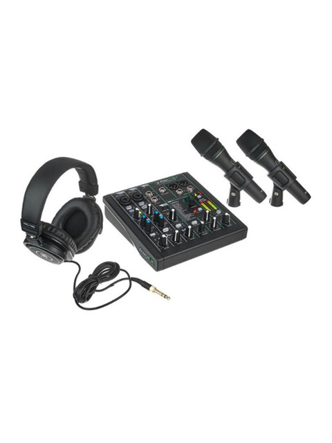 Jual Paket Alat Recording Podcast 2 microphone Mackie Performer Bundle